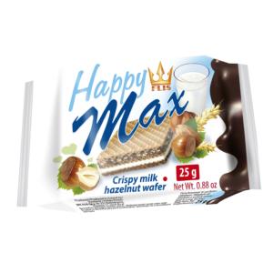 Kazy Happy Max 25G Crispy Tejes és Mogyorós Krémmel Töltött Ostya