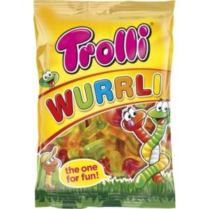 Trolli gyümölcsízű giliszta gumicukor 100G