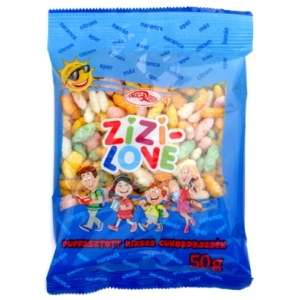 Microse Zizi-Love Vegyes ízű puffasztott rizses cukordrazsék 50G