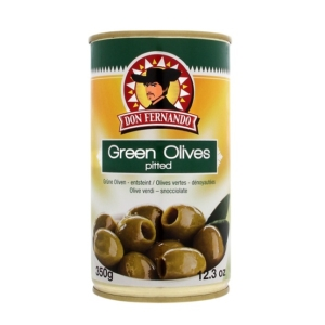 Don F. 350G Green Olives Pitted /85670/