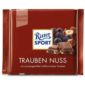 Ritter Sport mogyoróval és mazsolával töltött tejcsokoládé 100G