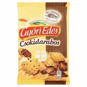 Győri Édes Omlós keksz csokoládédarabokkal 150g