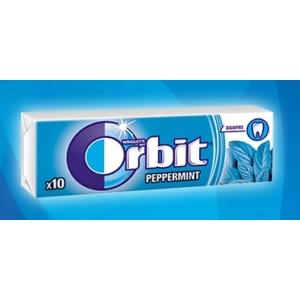 Orbit menta (peppermint) ízű rágó 14 g, cukormentes
