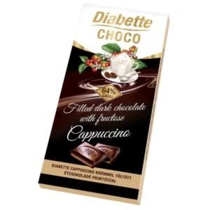 Diabette Choco capuuccino ízű krémmel töltött étcsokoládé 80G