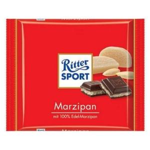 Ritter Sport maricipánnal töltött étcsokoládé 100G