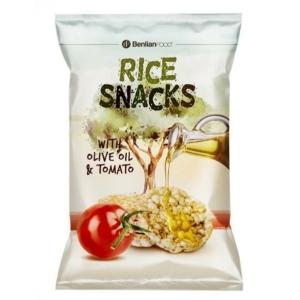 Rice Snacks 50G Mini Rice Olive Tomato Puffasztott Rizsszelet