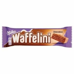 Milka Waffelini Chocomax alpesi tejcsokoládéval mártott kakaós krémmel töltött kakaós ostya 31 g