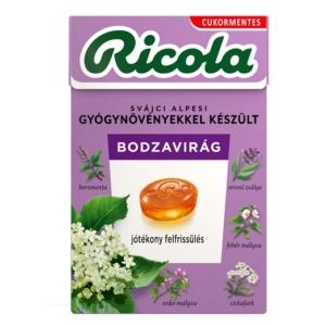 Ricola bodzavirág ízű svájci gyógynövény cukorkák 40 g Cukormentes
