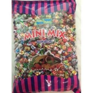 Nikomag Mini Mix gyümölcs ízű cukorkák 1KG