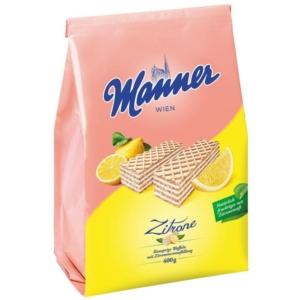 Manner citrom ízű krémmel töltött ostya 400G vegán