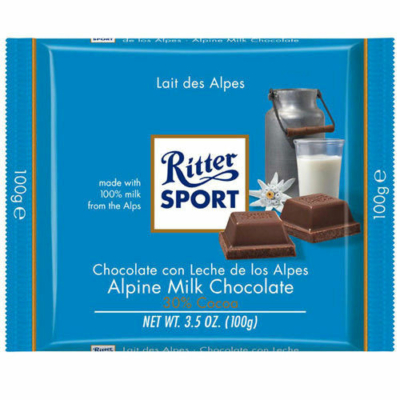 Ritter Sport 100G Alpen Milch Chocolate 464104
