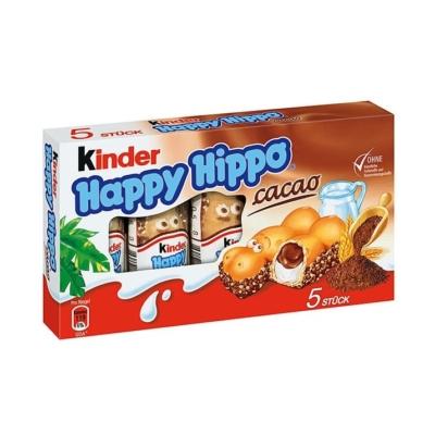 Kinder mókás viziló alakú, tejes és tejes-kakaós krémmel töltött ropogós ostya 103,5 g