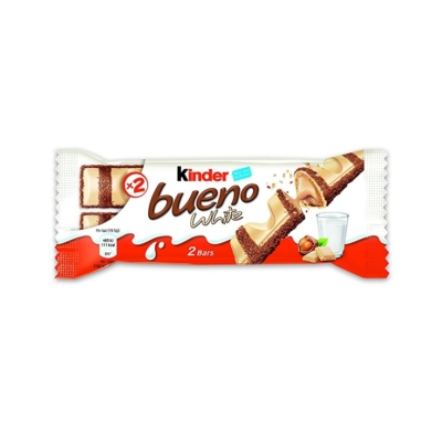 Kinder Bueno White Fehércsokoládéval bevont ostya tejes-mogyorós krémmel töltve 43G