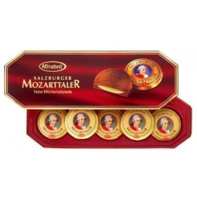 Mozart Mirabell Tallér mogyorókrémmel és marcipánnal töltött tejcsokoládé tallér 100G
