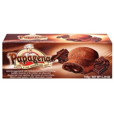 Papagena csokoládé töltelékkel töltött kakaós keksz 150 g