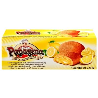 Papagena citromos ízű töltelékkel töltött kakaós keksz 150 g