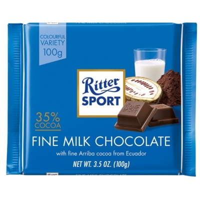 Ritter Sport 100G Extra Fine Milk 35% C.