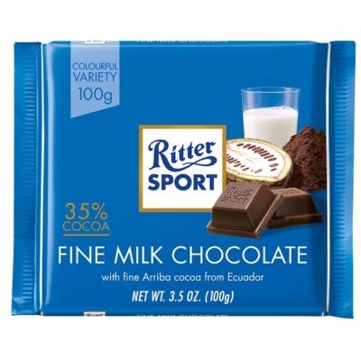 Ritter Sport extra finom alpesi tejcsokoládé 100G
