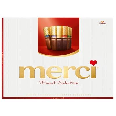 Merci KÉK töltött és töltetlen vegyes csokoládé különlegességek 675G