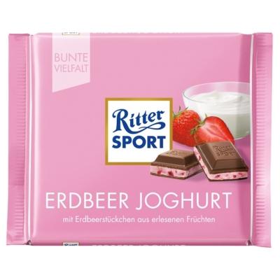 Ritter Sport 100G Erdbeer Joghurt 464154