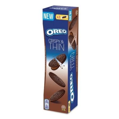 Oreo kakaós töltelékkel töltött, ropogós és vékony kakaós keksz