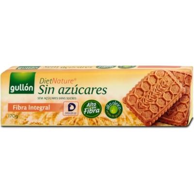 Gullón teljes kiőrlésű keksz 170 g, hozzáadott cukor nélkül