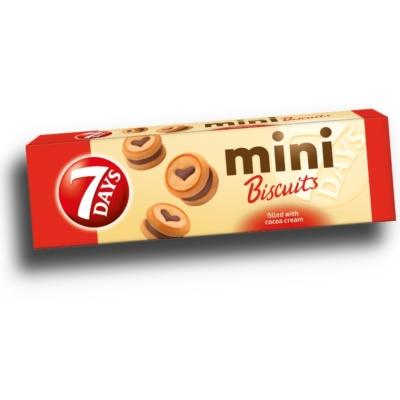 7 Days Mini Biscuit 100g Kakaós Keksz