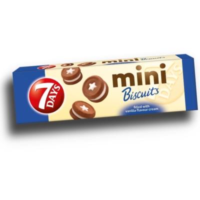 7 Days Mini Biscuit 100g Vaníliás Keksz