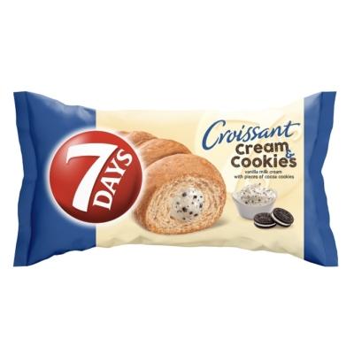 7 Days Midi vaníliakrém és keksz ízű töltelékkel töltött croissant 60G