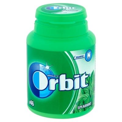 Orbit menta (spearmint) ízű rágó dobozban 64 g, cukormentes