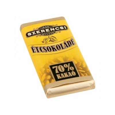 Szerencsi Étcsokoládé 70% kakaó 20G