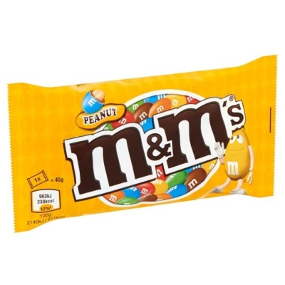 M&M's Földimogyorós drazsé tejcsokoládéban cukorbevonattal 45G