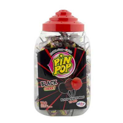 Aldor Pin Pop cseresznye ízű Nyalóka+Rágó 100*18G