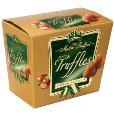 Maitre T. Truffles Hazelnut mogyoró ízesítésű trüffel 200G
