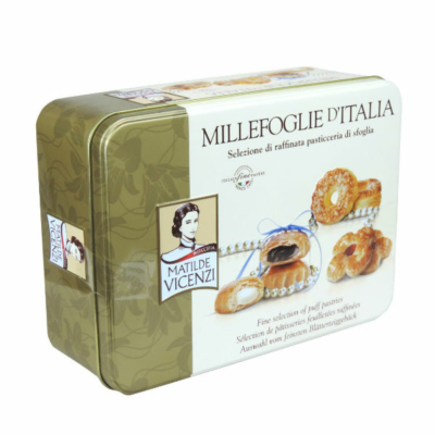 Vicenzi 375G Millefoglie  Fémdoboz VICE1023