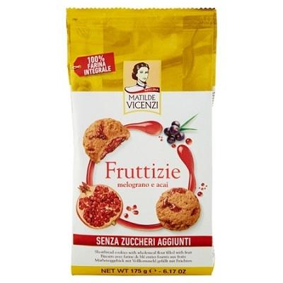 Vicenzi 175G Fruttizie Melograno Gránátalmás Teljeskiörlésű keksz -40% Cukorral  VICE1015