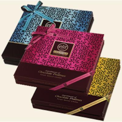 Elit Gourmet Collection 365G Válogatás (Arany-Kék-Rózsaszín Sárga Csokoládé Praliné)