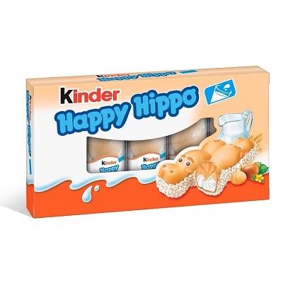 Kinder mókás viziló alakú, tejes és mogyorós krémmel töltött ropogós ostya 103,5 g