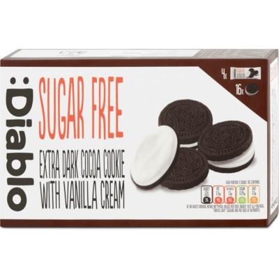 Diablo 176G  csokis keksz vanília töltelékkel (cukormentes)