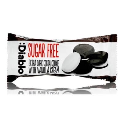 Diablo 44G csokis keksz vanília töltelékkel (cukormentes)