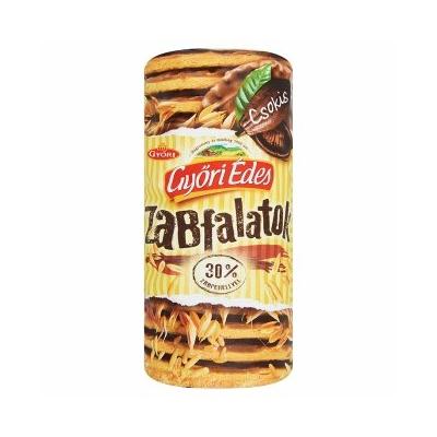 Győri Édes Zabfalatok tejcsokoládéba mártott omlós keksz 244 g, 30% zabpehely