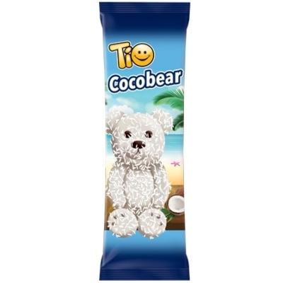 Tio Chocobear 60G Fehér-Kókusz bevonóba Mártott Kakaós Piskóta Csoki Krémmel