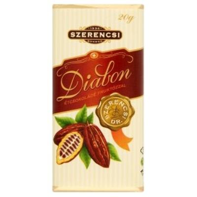 Szerencsi Diabon Étcsokoládé 20G