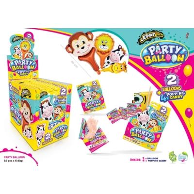 Johny Bee 8G Party Ballon 2db lufi+Pattogós Cukorka