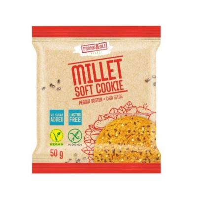 Frank&Oli Vital 50G Millet Soft Cookies Köleskeksz Chia maggal és Földimogyoróval
