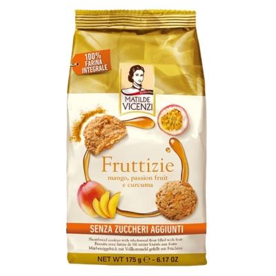 Vicenzi 175G Fruttizie Mangó Teljeskiörlésű keksz -40% Cukorral  VICE1016