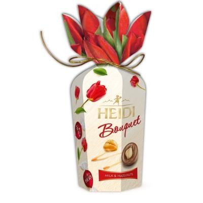 Heidi Bouquette Hazelnuts Flower karamellizált egész mogyoróval töltött tejcsokoládé praliné 120G