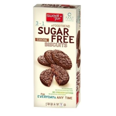 Sweet+Plus 100G SugarFree Kakaós Keksz