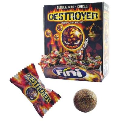 Fini 200Db-os Destroyer Bubble Gum Gyümölcs Rágó /10068/
