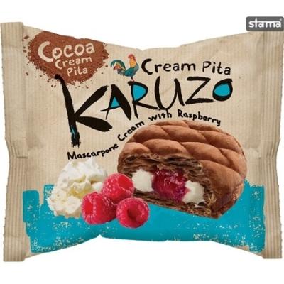 Karuzo 62G Kakaós Pita Mascarpone-Raspberry krémmel